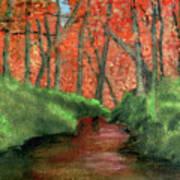 Hidden By Trees Art Print