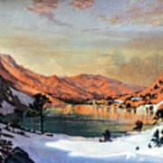 Hidden Lake Western United States Art Print