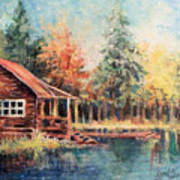 Hide Out Cabin Art Print
