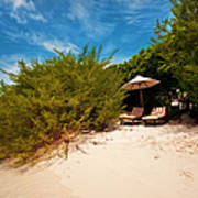 Hideaway. Maldivian Beach Art Print by Jenny Rainbow
