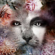 Hiding Catlady Art Print