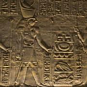 Hieroglyph At Edfu Print by Darcy Michaelchuk