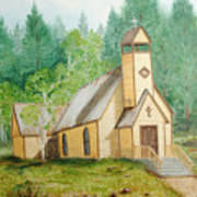High Country Chapel Art Print