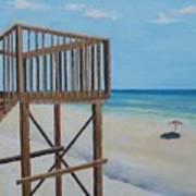 High Deck At Blue Mountain Beach Art Print