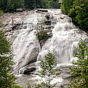 High Falls At Dupont Forest Art Print