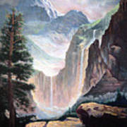 High In The Rocky Mountains Art Print