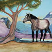 High Meadow Mustang Art Print