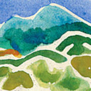 High Mountains And Meadows Art Print by Annie Alexander