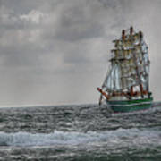 High Seas Sailing Ship Art Print by Randy Steele