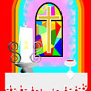 High Stained Glass Art Print