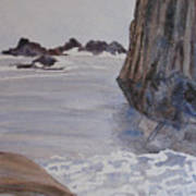 High Tide At Seal Rock Art Print