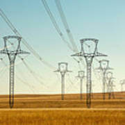 High Voltage Power Lines Art Print