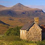 Highland Cottage At Elphin Art Print