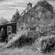 Highland Cottage Kilchoan Ardnamurchan Art Print