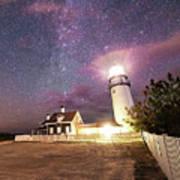 Highland Light Truro Massachusetts Cape Cod Starry Sky Shadow Yard Art Print