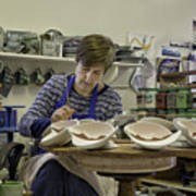 Highland Stoneware Artist At Work Art Print