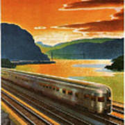 Highlands Of Hudson, Railway, Train Art Print