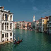 Hight Tide In Venice Art Print