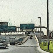 Highway In Dubai Art Print