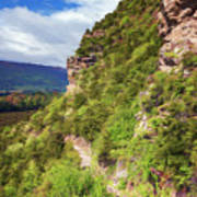 Hike Up Mt Iron Wanaka New Zealand Art Print