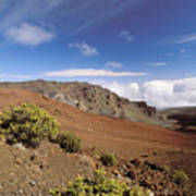 Hikers Inside Haleakala  Art Print
