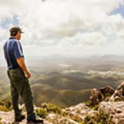 Hiking Australia Art Print