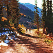 Hiking Couple In The Wasatch Art Print