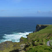 Hiking Path Along The Top Of The Cliff's Of Moher Art Print