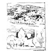 Hiking The Rockies Art Print