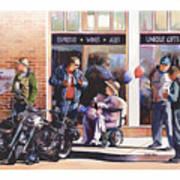Hilda Hogs And Harleys Art Print