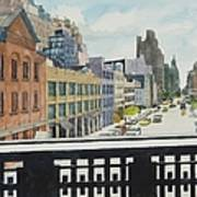 Hiline View Looking East Art Print