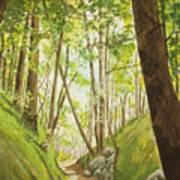 Hiling Path Art Print by Charles Hetenyi