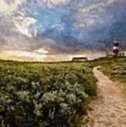 Hill Road To A Lighthouse H B Art Print