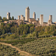 Hill Town Of San Gimignano Art Print