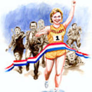 Hillary And The Race Art Print by Ken Meyer jr