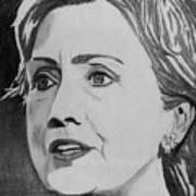 Hillary Clinton Print by Kenneth Regan