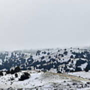 Hills In Fog Art Print
