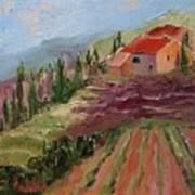 Hills Of Lavender Art Print