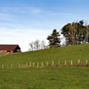 Hillside Farming Art Print