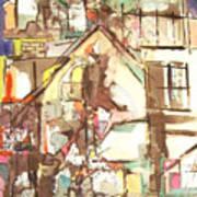 Hillside House Art Print