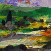 Hillside Pastures Art Print
