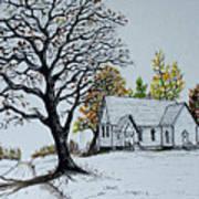 Hilltop Church Art Print