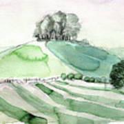 Hilltop Copse Art Print