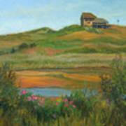 Hilltop Houses Cape Cod Art Print