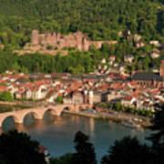 Hilltop View - Heidelberg Castle Art Print