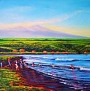 Hilo Bay Net Fisherman Art Print