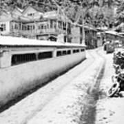 Himalayan Winter Scene Art Print