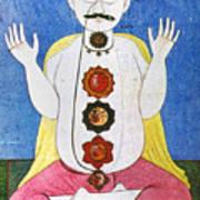 Hindu Chakras Wheels Art Print
