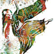 Hindu Dancer Art Print