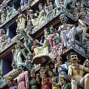 Hindu Temple In Singapore Art Print